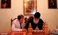 Подписание Договора по безопасности с Вятской епархией - митрополит Хрисанф